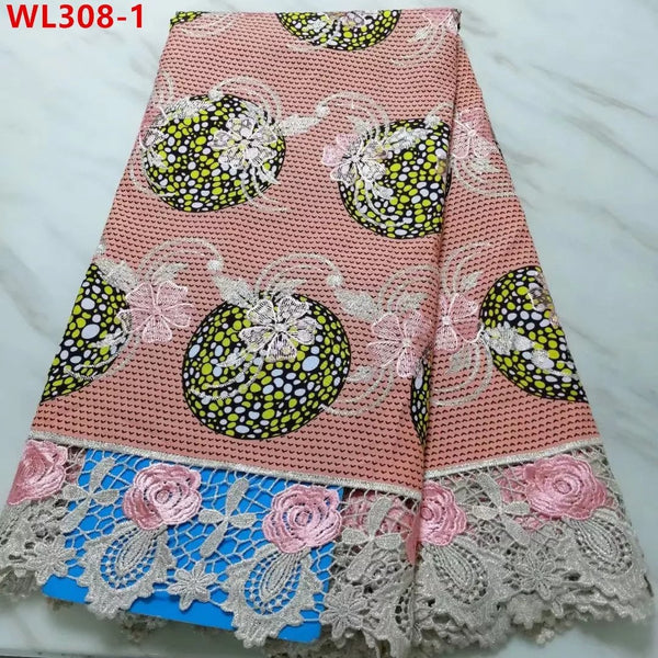 Designed Stylish Lace Fabrics With Embroidery Net Lace - Cream Color