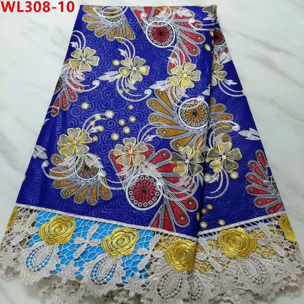 Unique Designed Stylish Lace Fabrics With Embroidery Net Lace - Blue