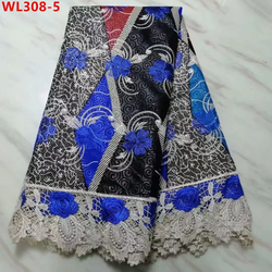 Rich Cotton Embroidered Net Lace Super Wax 5 Yards