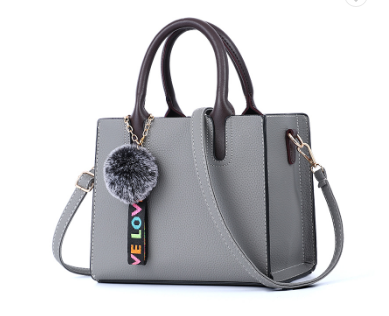 Beautiful Designed Genuine Italian Leather Made Tote Bag for Women - Gray