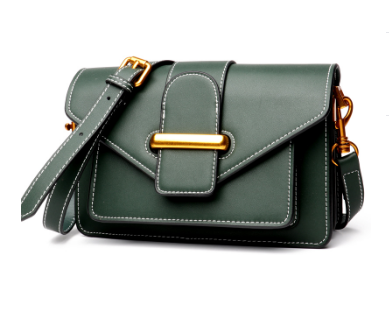 Unique Designed Italian Leather Made Cross Body Mini Bag - Green
