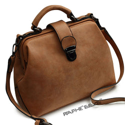 Leather Colored Premium Stylish Tote Handbag for Woman