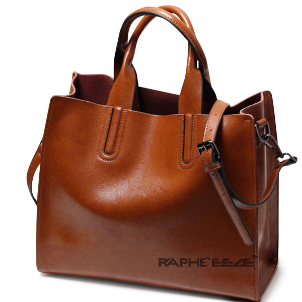Chocolate Colored Premium Stylish Tote Handbag for Woman