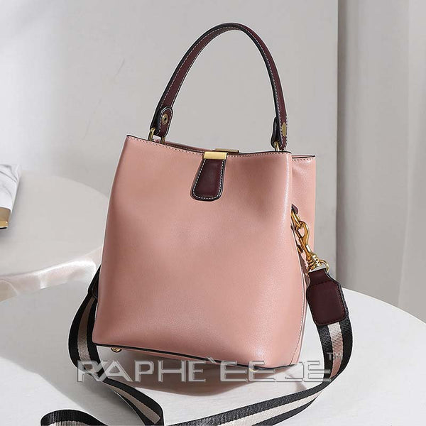 Genuine Leather Tote Bag for Woman - Pink