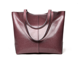 Casual Design Genuine Italian Leather Made Shoulder Bags for Women - Purple Color