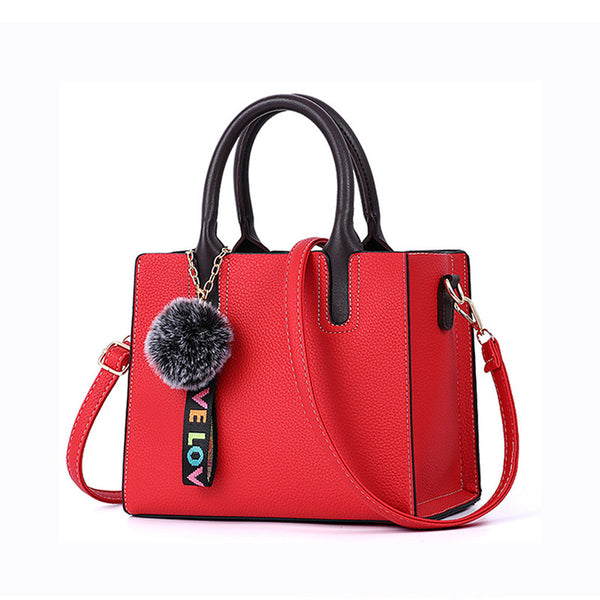 Beautiful Designed Genuine Italian Leather Made Tote Bag for Women - Red