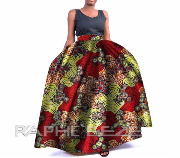 Amazing Designed Long Maxi Bobo Skirt for Women - Mix Design