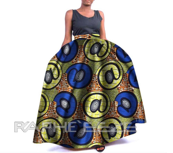 Amazing Designed Long Maxi Bobo Skirt for Women - Unique Print