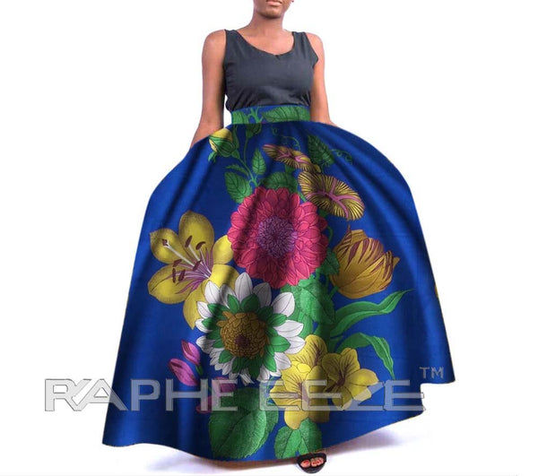 Amazing Designed Long Maxi Bobo Skirt for Women - Ocean Blue