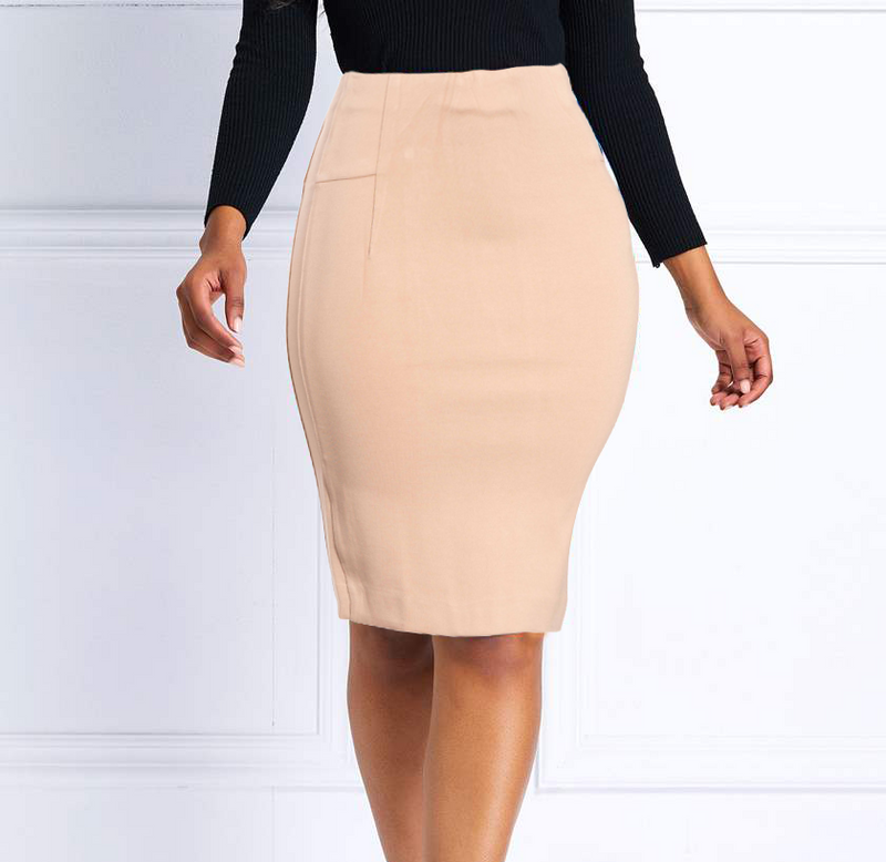 Tan-Taupe Body Shaper Butt Lifting Mini Skirt