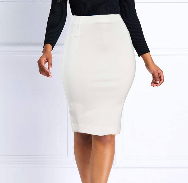 White Body Shaper Butt Lifting Mini Skirt