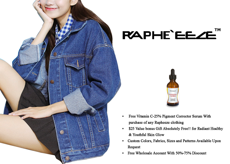 Washed Loose Fitting Long sleeved Denim Jacket Coat for Woman