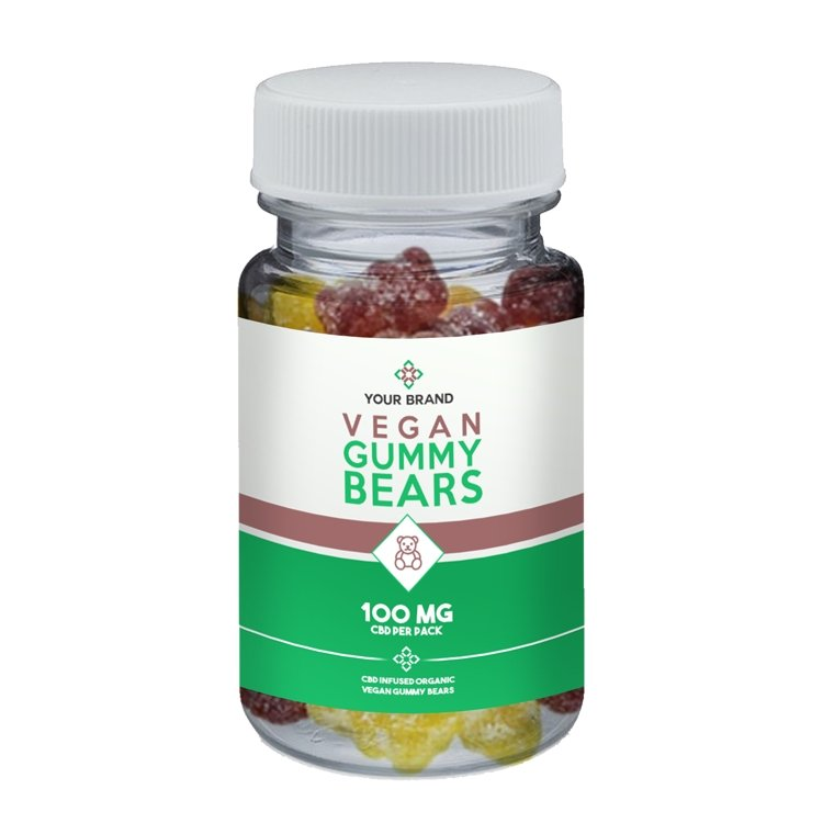 CBD Organic Gummy Bears (Vegan) - CBD Liquid Labs