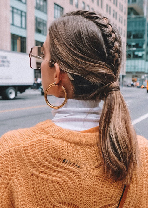 igk braided ponytail look from nyfw 2018