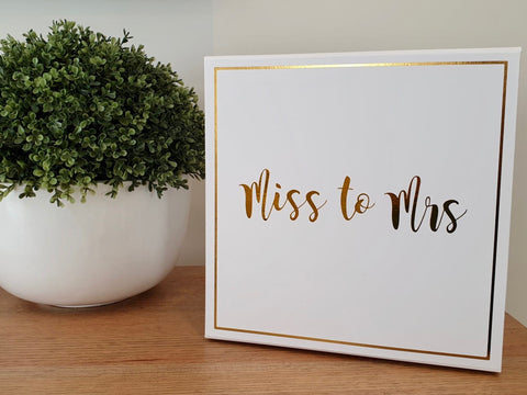 Miss to Mrs / Bride Gift Box