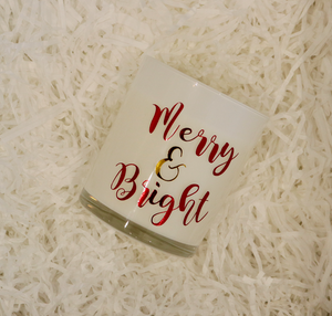 Merry & Bright | Scented Soy Wax Christmas Candle