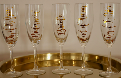 Bridal Party Glassware