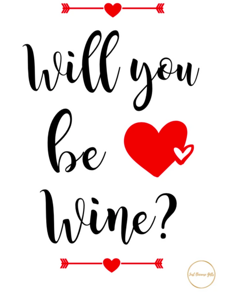 Valentine's Day Wine Label