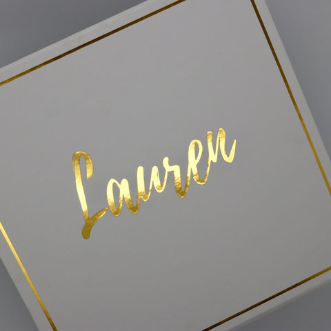 Personalised Gold Foil Gift Boxes