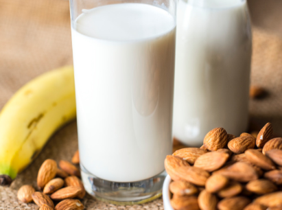 almond milk and banana