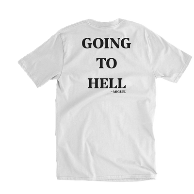 To Hell White Tee