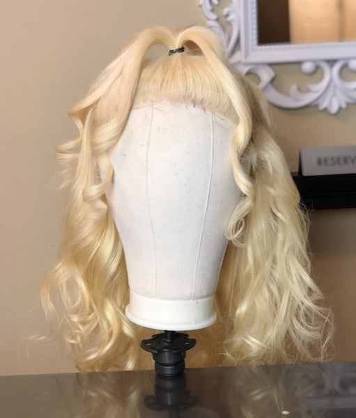 Mighty Touch Blonde Human Hair Wig w/ Frontal #613 - Amandalola Hair