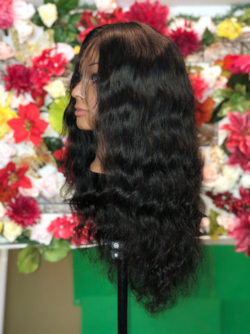 Natural black Mighty Touch Wigs w/ Lace Closure - Amandalola Hair