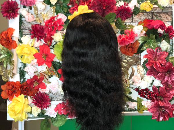 Natural black Mighty Touch Wigs w/ Lace Frontal - Amandalola Hair