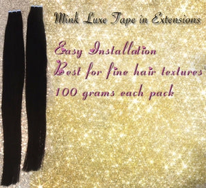 Double Drawn Brunette Tape In Hair Extensions - Amandalola Hair