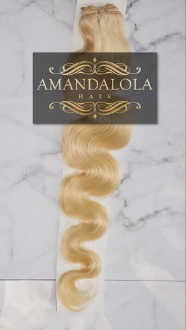Mighty Touch Weave Bundles Fairy Blonde  #613 - Amandalola Hair