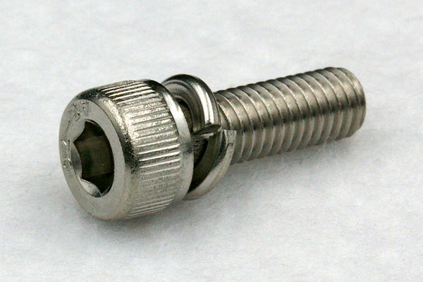 310w/washers M8 Hex Socket Cap Screw with Spring Washer, Steel 3Cr 100 pcs.