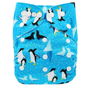 JR.Bums Cloth Nappy Limited Edition - Blue Penguin's
