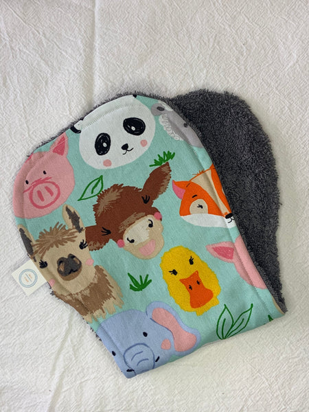 Contoured Burp Cloth - Farm Animals