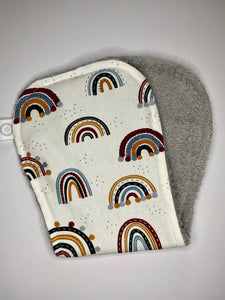Contoured Burp Cloth - Boho Rainbow