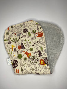 Contoured Burp Cloth - Rumble in the Jungle Natural