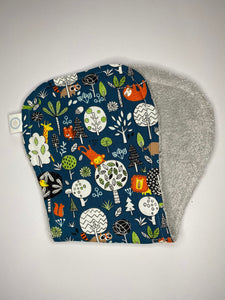 Contoured Burp Cloth - Rumble in the Jungle Navy