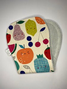Contoured Burp Cloth - Happy Fruit