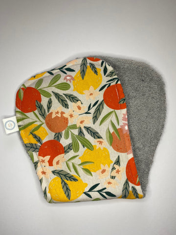 Contoured Burp Cloth - Citrus