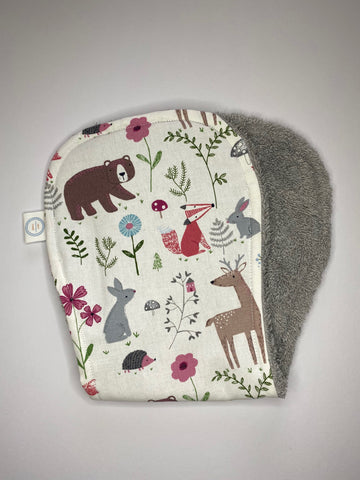 Contoured Burp Cloth - Pink Woodland