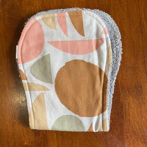 Contoured Burp Cloth - Pink Abstract