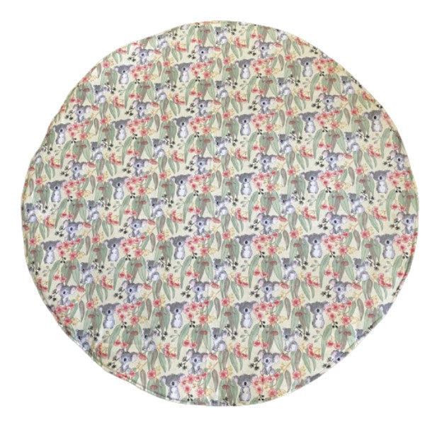 Play/Tummy Time Mat 1m Round - Koala Cream