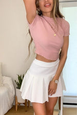 STRAWBERRIES AND CREAM TURTLENECK TOP