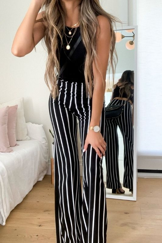 OUT OF THE OFFICE STRIPED PANTS
