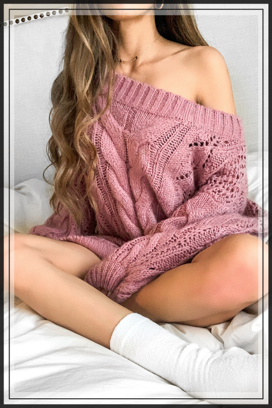 ROSE AND CHILL  PINK SWEATER