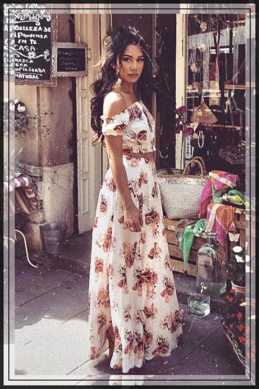 TWO PIECE MAXI FLORAL SET