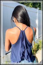 SLEEVELESS CAMI WITH BACK RUFFLES