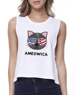 AMERICAN CAT CROP TOP (AMEOWICA)