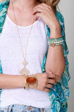 STRETCHY STONE BRACELET (Available in three colors) - Cielo Blue LA