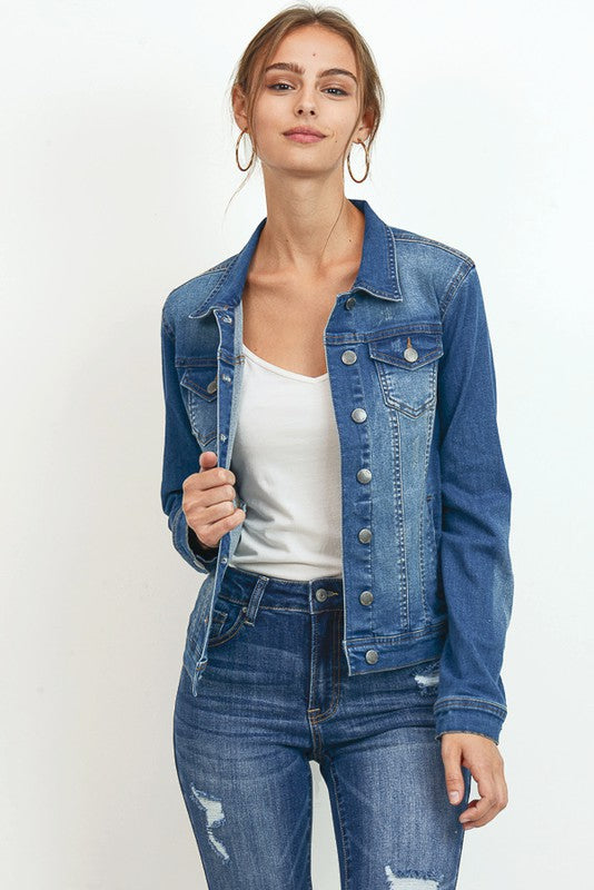 OLD SCHOOL CLASSIC DENIM JACKET - Cielo Blue LA