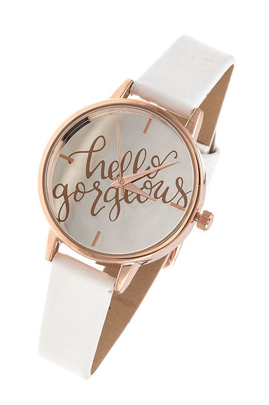 HELLO GORGEOUS WATCH - Cielo Blue LA